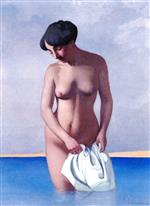 Bather Seen from the Front, Grey Background