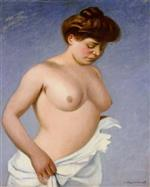Femme tenant sa chemise (Woman holding her shirt)