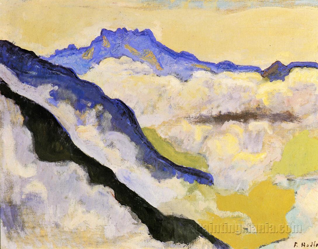 Dents du Midi in Clouds