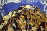Jungfrau and Silverhorn, as Seen from Murren