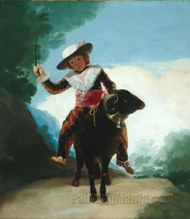 Boy with a Ram