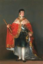 Ferdinand VII with the Royal Mantle
