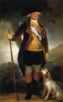 King Carlos IV in Hunting Costume