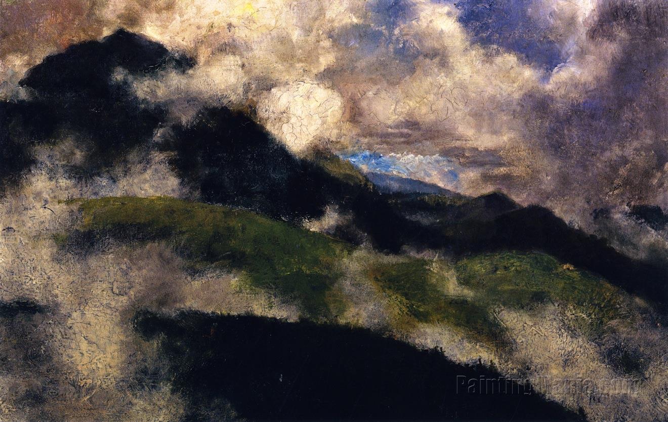 Alpine Landscape with Rising Fog