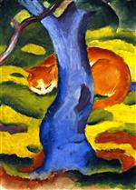 Children's Picture (Cat behind a Tree)