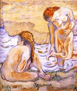 Composition with Nudes II (Two Bathing Women)