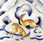 Deer in the Snow