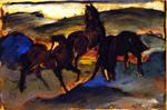Horses in a Pasture II (Three Horses)