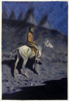 Indian in the Moonlight