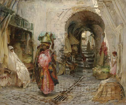 Going to the Bath on rue du Sphinx, Algiers