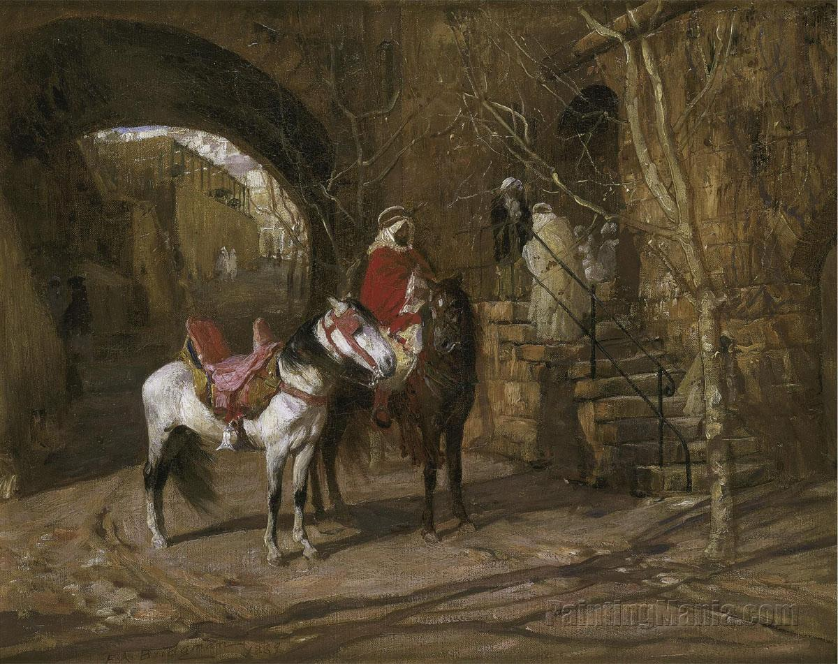 Horseman in a Courtyard