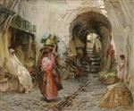Going to the Bath on rue du Sphinx. Algiers