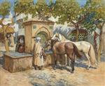 Horses Watering, Tunis