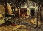 Idle Moments: An Arab Courtyard