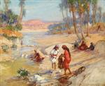 Women Washing Clothes in a Stream