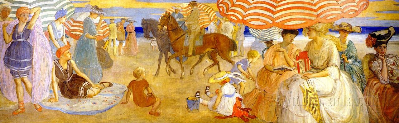 Afternoon at the Beach (from Hotel Shelburne Murals)