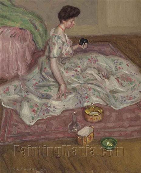 Femme assie aux bibelots (Portrait of Medora Clark)