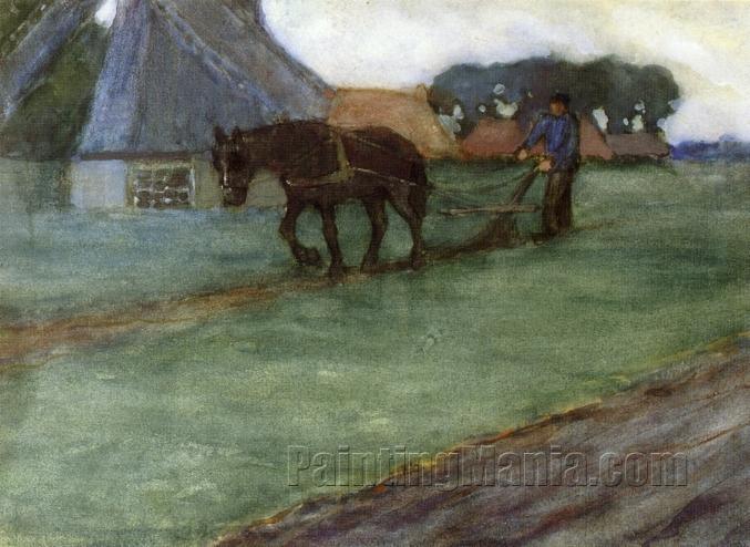 Man Plowing