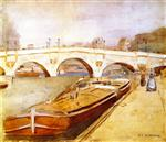 Paris, Pont Neuf with Barges