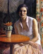 Portrait of a Woman with Cactus