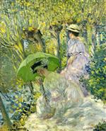 Two Young Women in a Garden