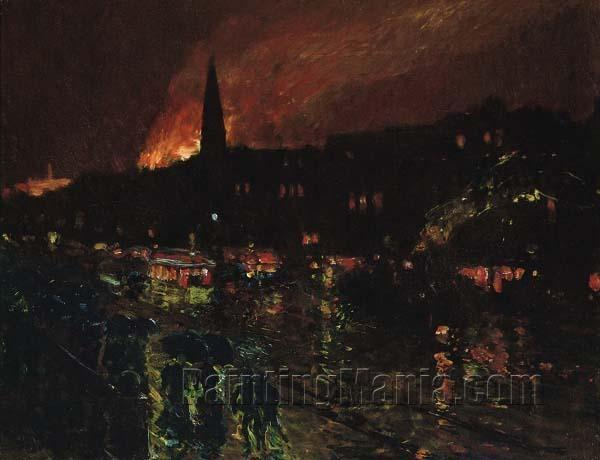 """The Alarm"" (Firelight, Boston c. 1886)"