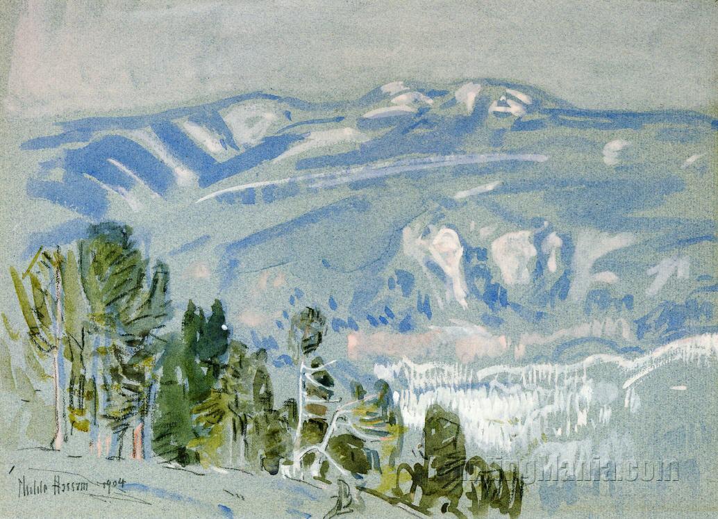 Looking towards Mount Adams from Mount Hood
