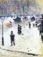 Fifth Avenue in Winter 1901