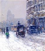 Winter, New York (Winter Morning on Broadway)