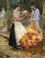 Woman Sellillng Flowers