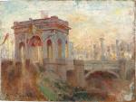 Triumphal Arch at Princes Bridge. Melbourne