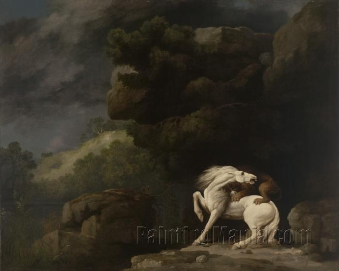 A Lion Attacking a Horse 1770