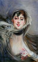 Portrait of Emiliana Concha de Ossa (Femme aux gants)