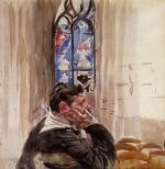 Portrait of a Man in Church