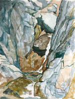 Bergschlucht mit Wasserfall (Glen with Waterfall)