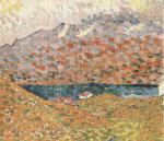 Blick auf Silsersee und Piz Corvatsch