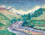Early Summer Landscape in Upper Engandin