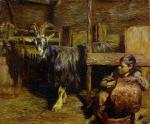 In the Goat Barn