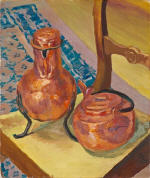 A Still Life of Copper on a Chair