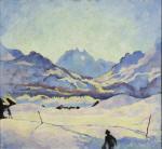 Winter Landscape in Maloja 1