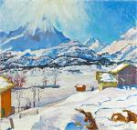 Winter Landscape in Maloja 3