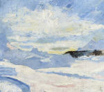 Winter landscape near Maloja