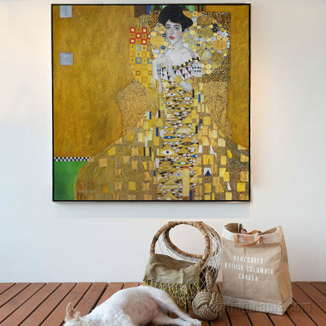 portrait of adele bloch bauer i gustav klimt paintings. Black Bedroom Furniture Sets. Home Design Ideas