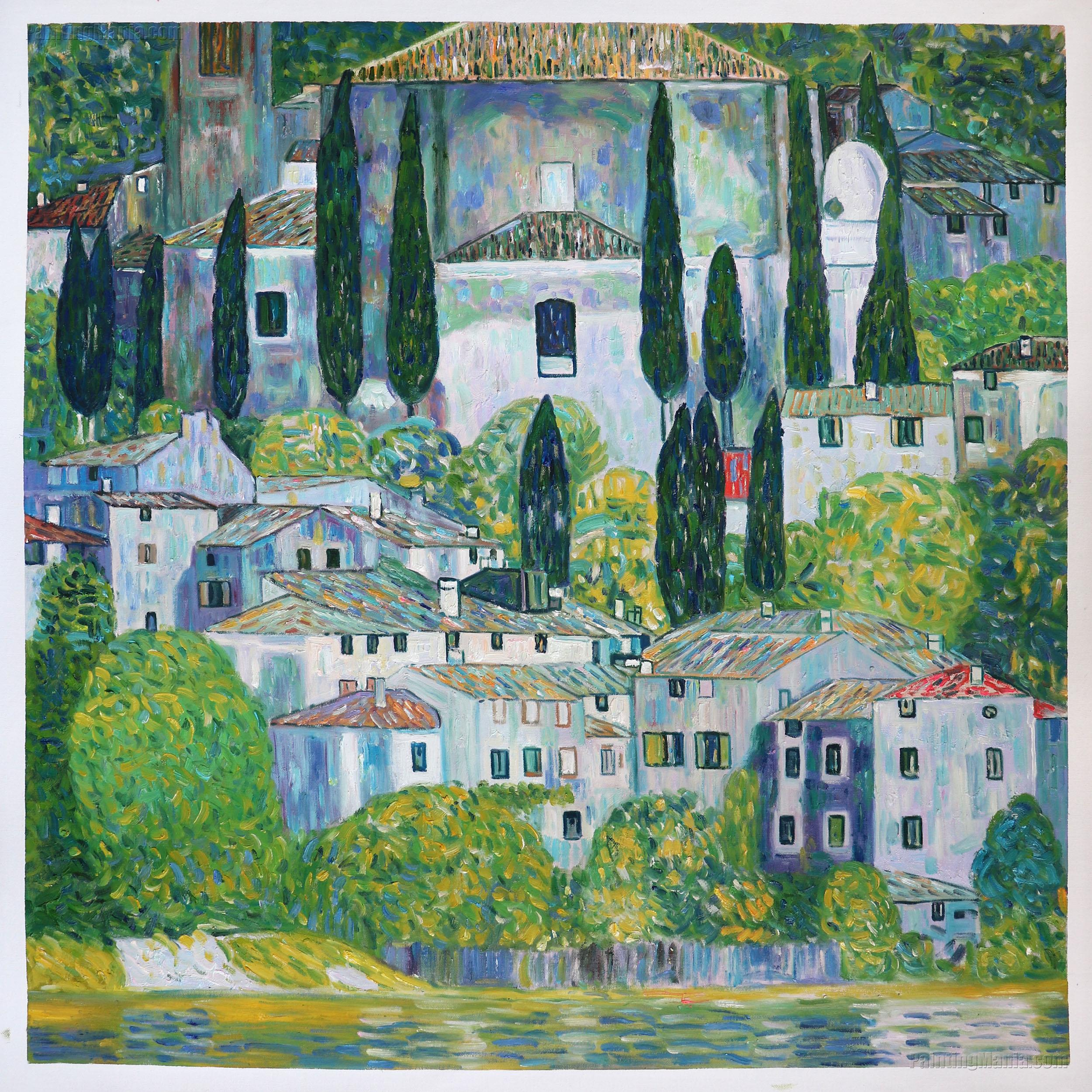 The Church in Cassone (Landscape with Cypress)