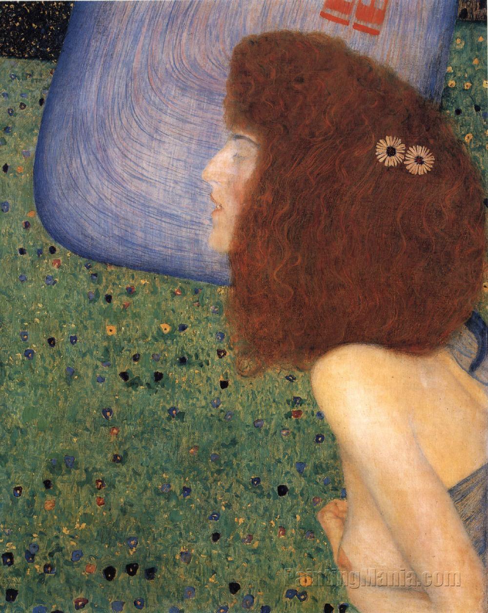 Girl with Blue Veil