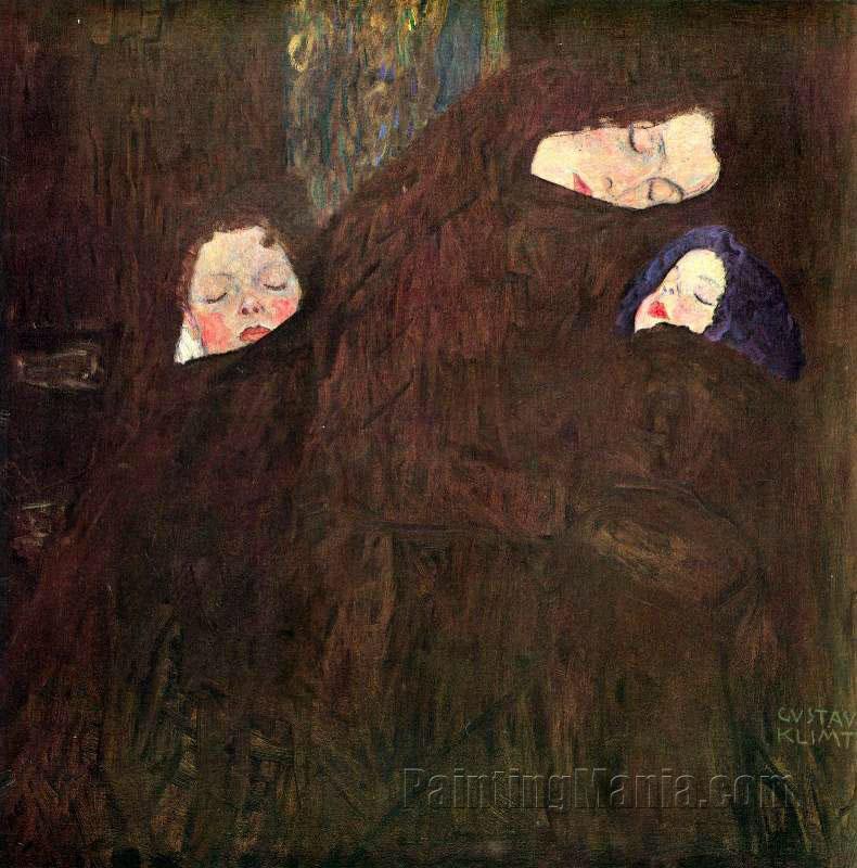 Mother With Children Gustav Klimt Paintings