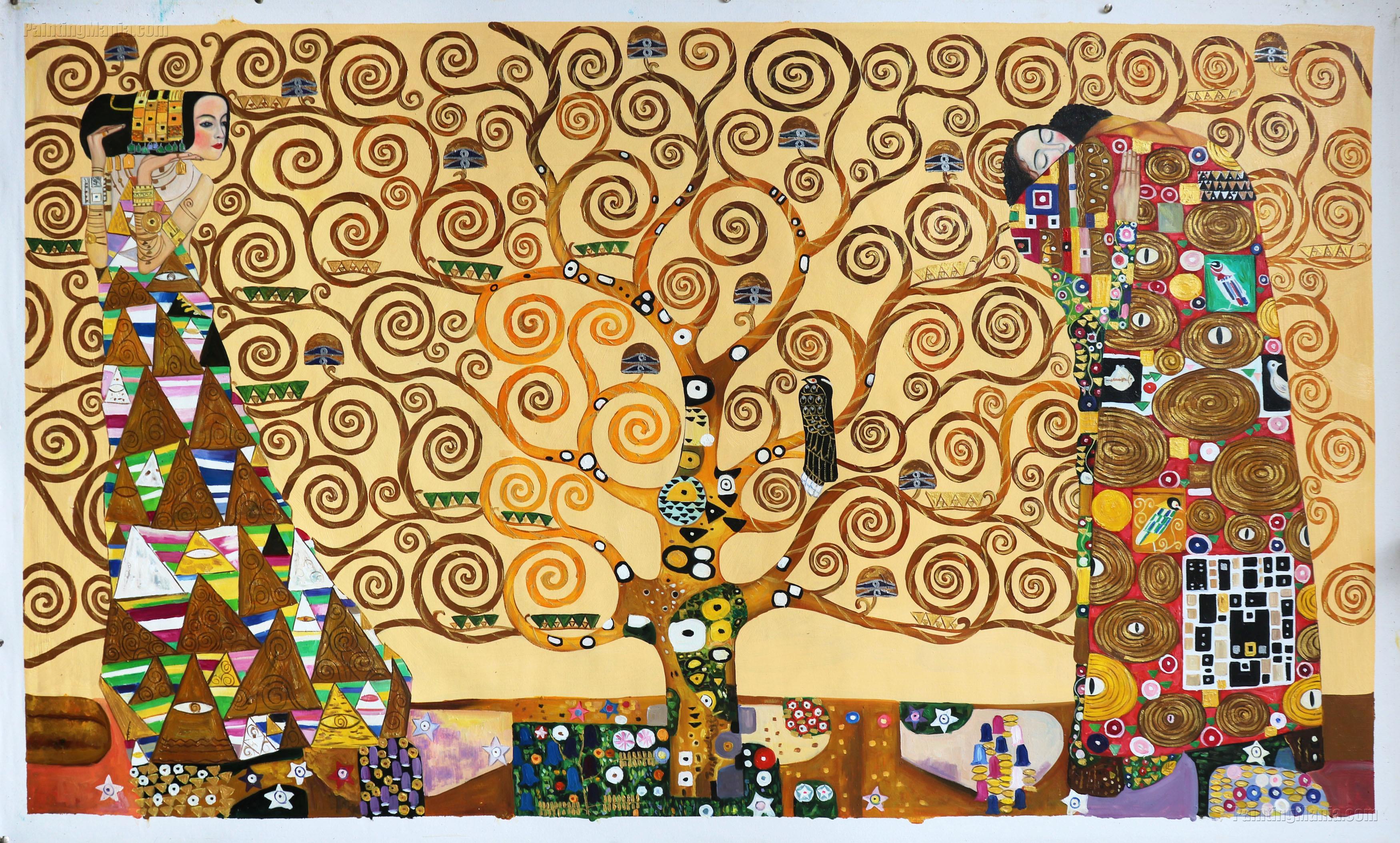 Tree of life 1909 - Gustav Klimt Paintings