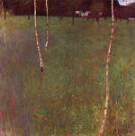 Farmhouse with Birch Trees
