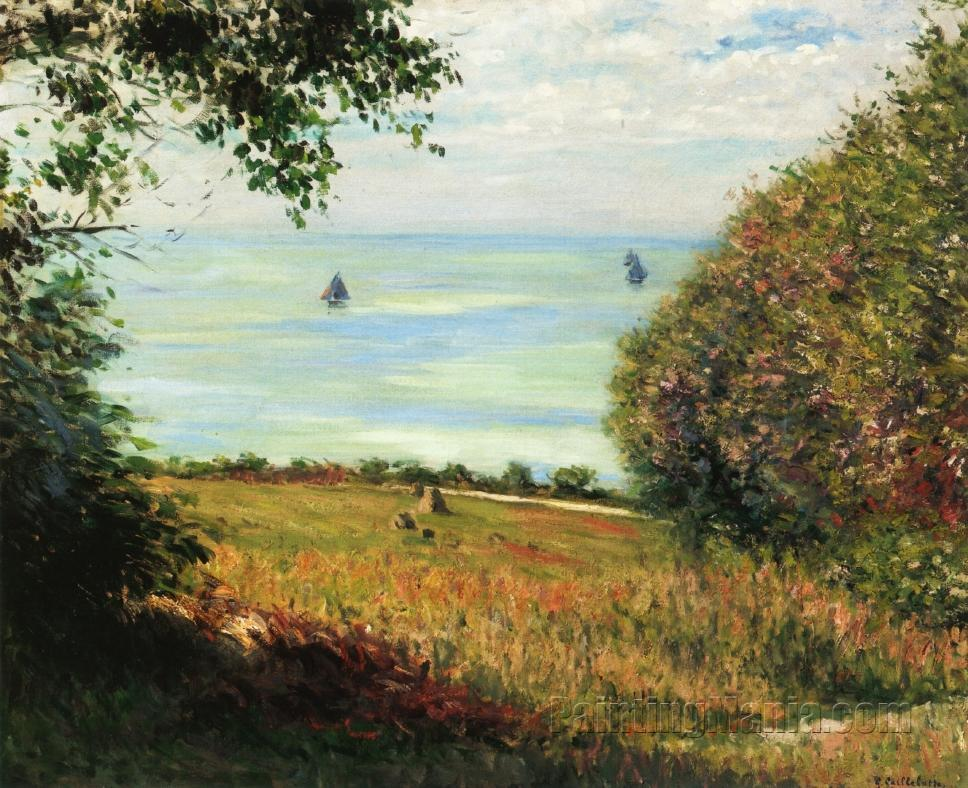 View of the Sea from Villerville (Seascape)