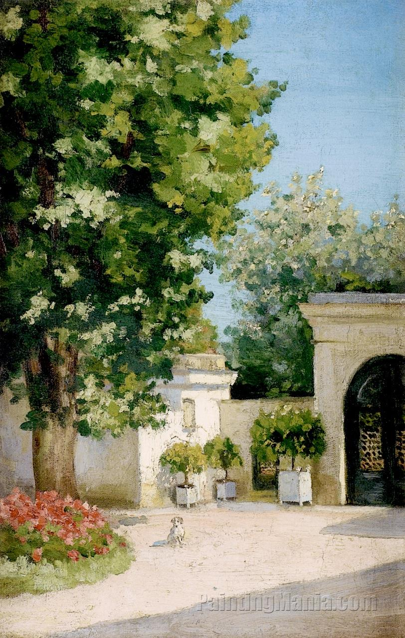 Yerres, Exedra, the Porch of the Family Home